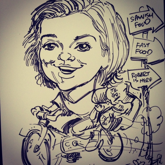 Trade Shows = Better with caricature artists onsite. This is from the recent Power Gen International.
